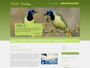 FastSnail Premium Free WordPress Nature Theme