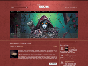 Games Premium Free WordPress Game Theme