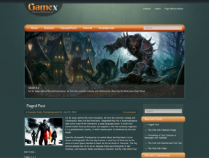 GameX Free Premium WordPress Gaming Theme