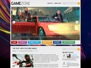 GameZone Premium Free WordPress Game Theme