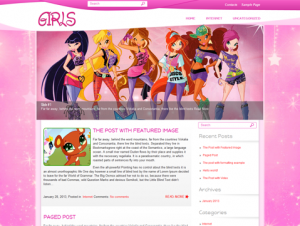 Girls Free WordPress Themes