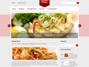 HappyFood Free WordPress Food Theme