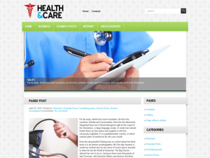 HealthCare Free WordPress Medical / Pharmacy Theme