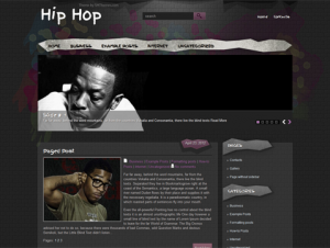 HipHop Free WordPress Music Theme