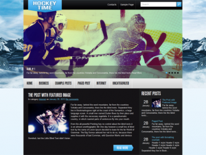 HockeyTime Free WordPress Sports Theme