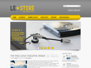LeStore Free WordPress Technology Theme
