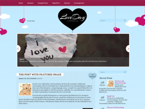 LoveDay Free WordPress Valentine Theme