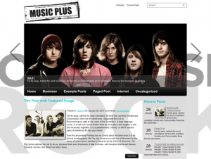 MusicPlus Free WordPress Music Theme