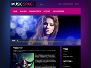 MusicSpace Free Premium WordPress Music Theme