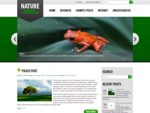 Nature Free WordPress Nature Theme