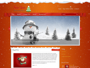 NewYear Free WordPress Holiday Theme
