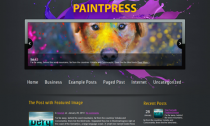PaintPress Free Wordpress Artist Theme