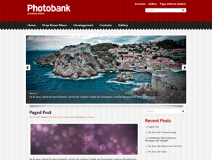 PhotoBank Free WordPress Photography Theme