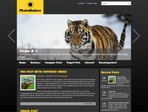 PhotoNature Free WordPress Photography Theme
