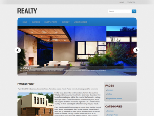 Realty Free Premium WordPress Real Estate Theme