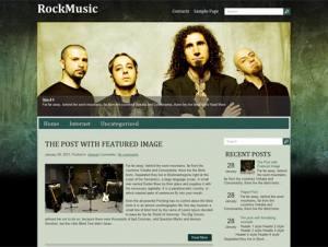 RockMusic Premium Free WordPress Music Theme