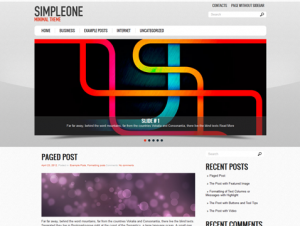 SimpleOne Free WordPress Theme