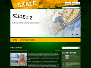 Skate Free WordPress Skateboard Theme