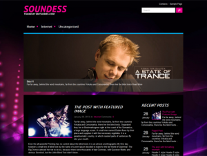Soundess Free WordPress Music Theme