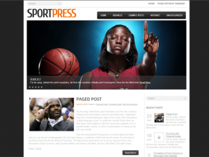 SportPress Free WordPress Sports Theme