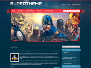 SuperTheme Free WordPress Cartoon Theme