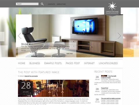 SweetHome Nice Clean Free Premium Wordpress Theme Many Uses