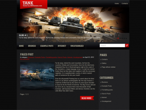 Tank Free WordPress Gaming Theme