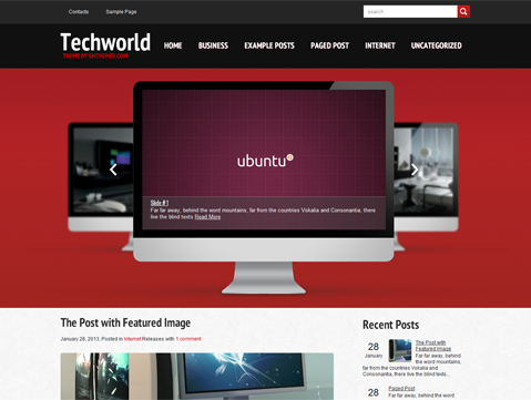 TechWorld Premium Free Technology WordPress Theme