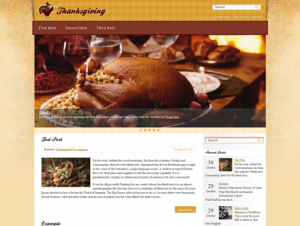 Thanksgiving Free WordPress Thanksgiving Theme