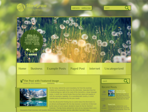 WordGrass Premium Free WordPress Nature Theme