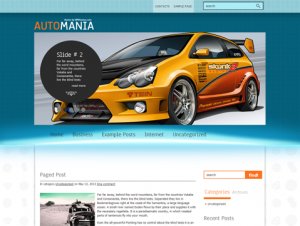 AutoMania Free WordPress Car Theme