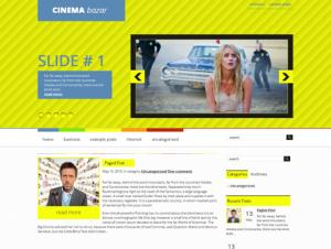 CinemaBazar Free WordPress Cinema Theme