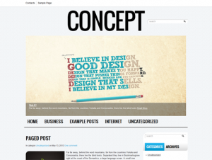 Concept Free WordPress Creative Theme