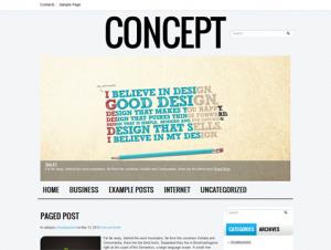 Concept Free WordPress Creative Theme