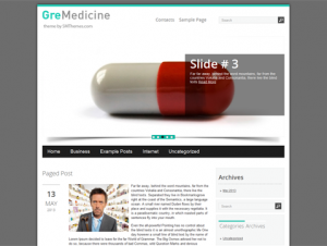 GreMedicine Free WordPress Health Theme