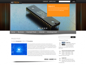 HiTech Free WordPress Technology Theme