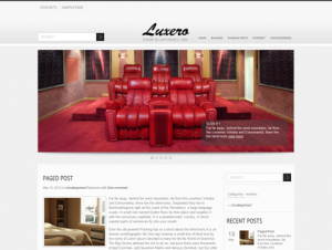 Luxero Free WordPress Interior Theme