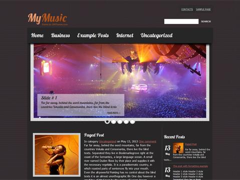 My Music Free Wordpress Music Theme