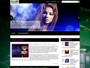 ClubMusic Free WordPress Theme for Music Sites