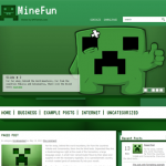 MineFun Free Wordpress Minecraft Theme