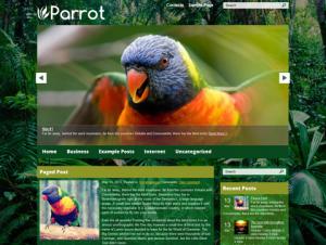 Parrot Premium Free WordPress Nature Theme