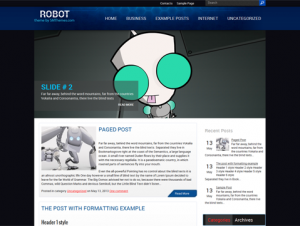 Robot Free Technology WordPress Theme