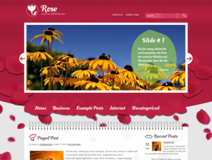 Rose Free WordPress Women's Theme