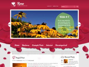 Rose Free WordPress Women's Theme