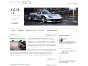SimpleCars Free WordPress Car Theme