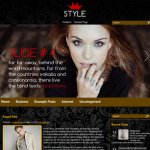 Style Premium Free Wordpress Fashion Theme